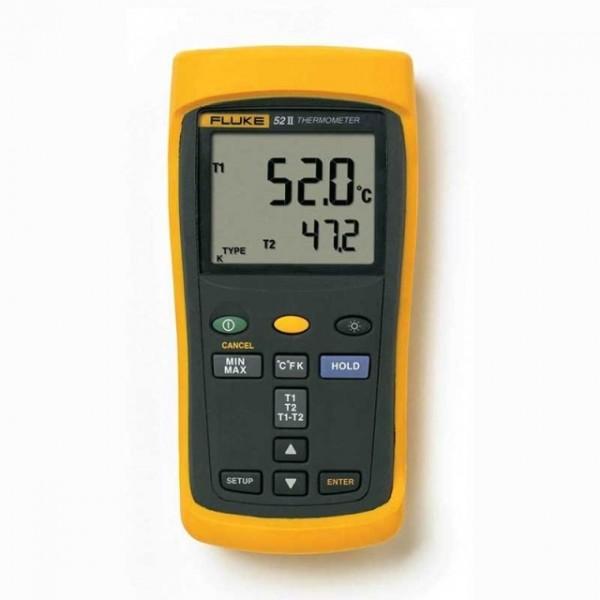 Fluke 52-II termometer m/ dobbel inngang