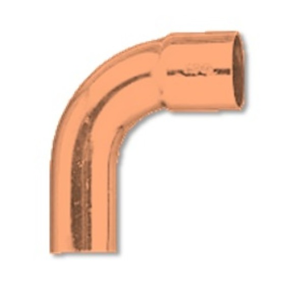 Bend 90 ° Lang inv./utv. 9607-2-LT