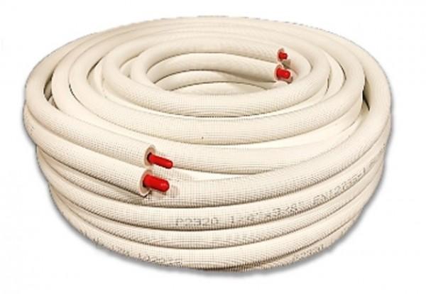 BEIJER REF hvite preisolerte kobberrør i kveil, 20m