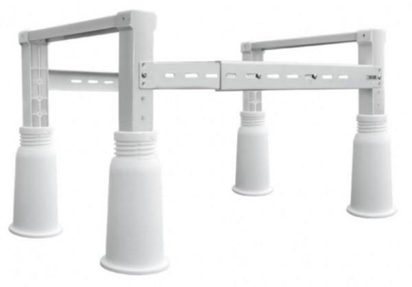 Bakkestativ til varmepumper med brede ben i plast. Maks 180 kg