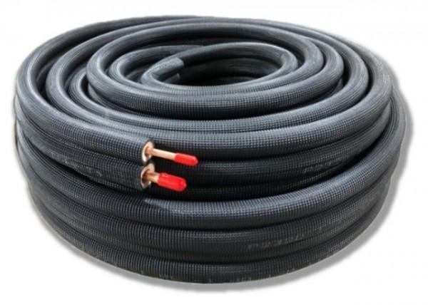 BEIJER REF svarte preisolerte kobberrør i kveil, 20m